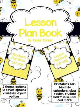 Teacher Planner 2017-2018 – Bumble Bee Theme