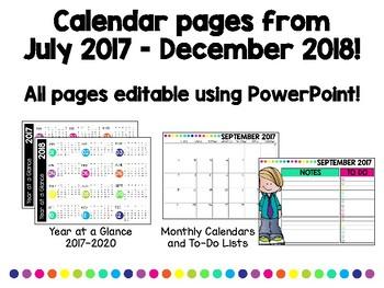 Teacher Planner 2017-2018 Completely Editable!