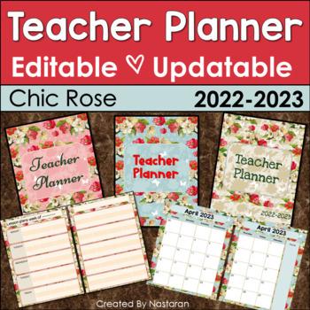 Teacher Planner 2017-2018 Editable -Teacher Binder 2017-2018 Updatable