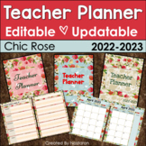 Teacher Planner 2018-2019 Editable -Teacher Binder 2018-2019 Updatable