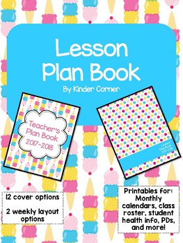Teacher Planner 2017-2018 – Ice Cream Theme