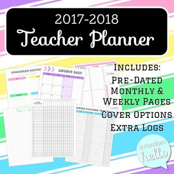 Teacher Planner 2017-2018 | Pre-dated & Ideal for Secondary Teachers