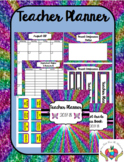 Teacher Planner 2017-2018 Rainbow Glitter