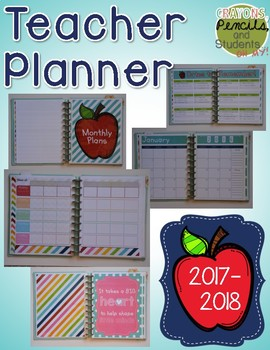 Teacher Planner 2017 - 2018