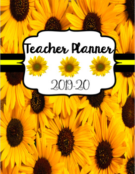 Teacher Planner 2017-2018 Sunflower Theme