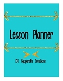 Teacher Planner 2018-19