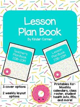 Teacher Planner 2018-2019 – Sprinkles Theme