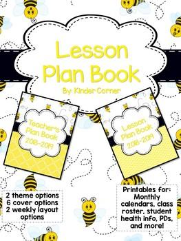Teacher Planner 2018-2019 – Bumble Bee Theme