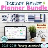 Editable Teacher Planner & Teacher Binder 2019-2020 Disc P