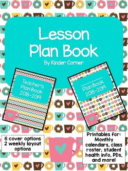 Teacher Planner 2018-2019 – Coffee & Donuts Theme