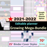 Editable Teacher Binder 2019-2020 Teacher Planner - Disc Planner Happy Planner
