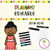 Teacher Planner ~ 2018-2019 **EDITABLE**