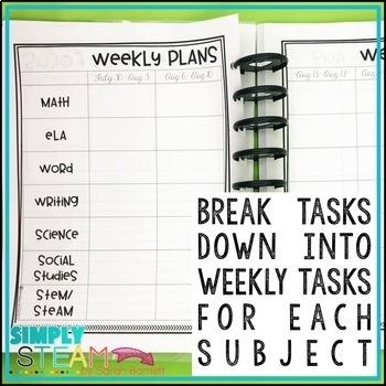 Teacher Planner 2018 - 2019 FREE Updates