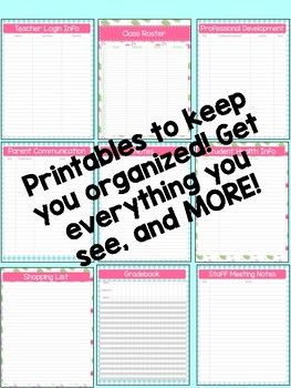 Teacher Planner 2018-2019 – Flamingo Theme