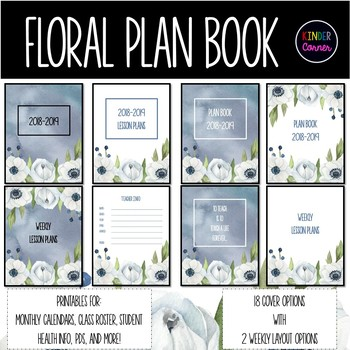 Teacher Planner 2018-2019 - Floral Theme