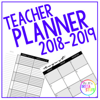Teacher Planner 2018 - 2019 (UK and US Dates)