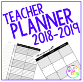 Teacher Planner 2018 - 2019 (UK and US Dates)