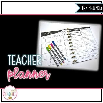 Teacher Planner 2018 {Ink Friendly}