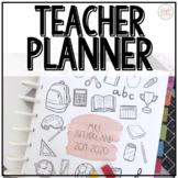 Teacher Planner: 2019-2020