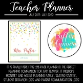Teacher Planner 2019-2020 - Confetti