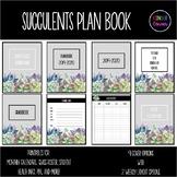Teacher Planner 2019-2020 – Succulent Cactus Theme