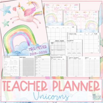 Teacher Planner 2019-2020 - Unicorns