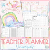 Teacher Planner 2019-2020 - Unicorns