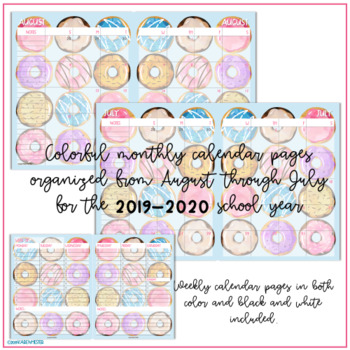 Teacher Planner 2019-2020 - Yummy Donuts