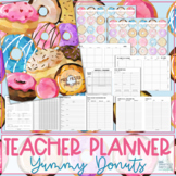 Teacher Planner 2019-2020 - Yummy Donuts