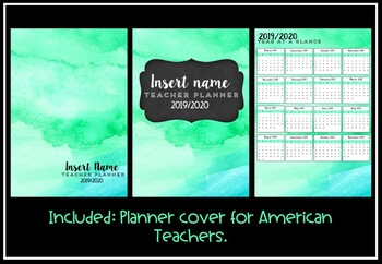 Teacher Planner 2019 Version 11