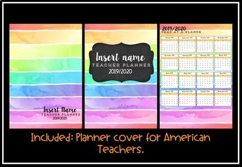 Teacher Planner 2019 Version 4