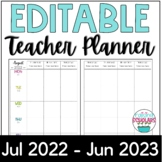 Teacher Planner 2020-2021 EDITABLE & Free Updates