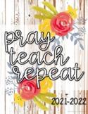 Teacher Planner 2021-2022 {Rustic Floral}
