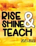 Teacher Planner 2021-2022 {Water Color Splash}
