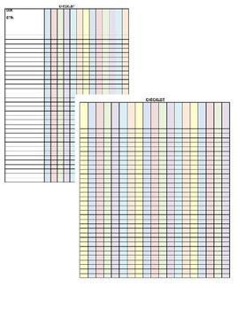 Teacher Planner 3 Subject Customizable