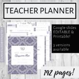 Teacher Planner | 3 versions: Digital, Editable, Printable