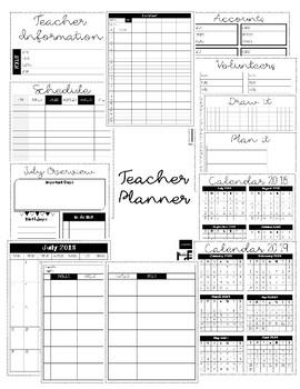 Teacher Planner 2018-2019