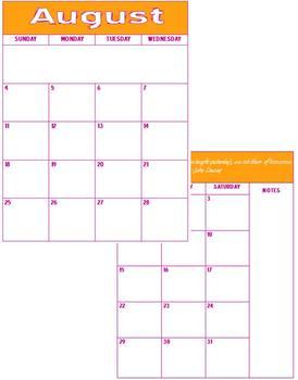 Teacher Planner 5 Subject Customizable