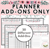 Teacher Planner Add-Ons ONLY!
