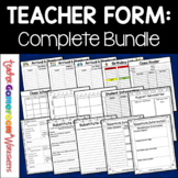 Teacher Forms - Complete Set