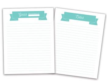 Teacher Planner (Basic, No-Frills, Printable)