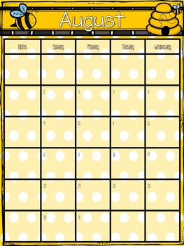 Teacher Planner- Bees- editable pages included!