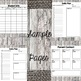 Teacher Planner Binder 2017-18: Burlap and Wood