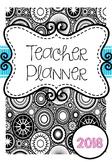 2018 Australian Teacher Planner Binder - Adult Colouring Theme