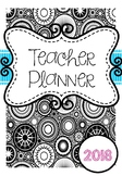 2018 Australian Teacher Planner Binder - Adult Colouring Theme