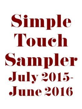 Teacher Planner Binder: Simple Touch July 2015-June 2016