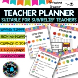 Teacher Planner 2019 updated version- editable and updated yearly