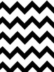 Teacher Planner: Black & White Chevron