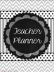 Teacher Planner- Blue, Green, & Gray- editable pgs & ink-friendly versions incl.