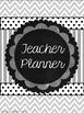 Teacher Planner- Blue, Green, & Gray- editable pgs & ink-f